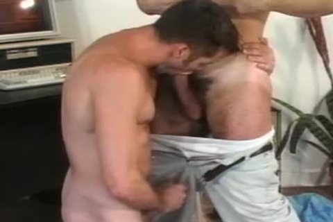 Gay asshole stretching session