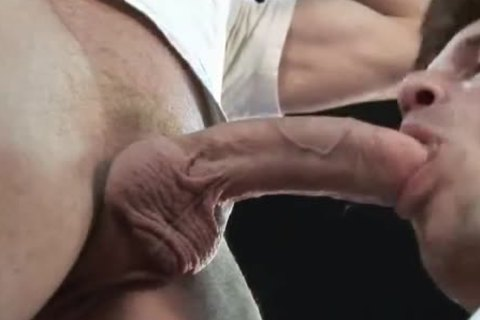 DADs tongue, fingers and huge COCK in JEANS ASS