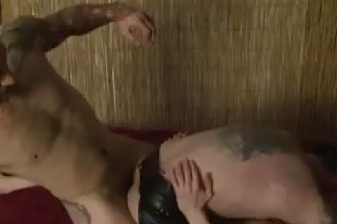 Tattooed gay Double anal - Factory movie