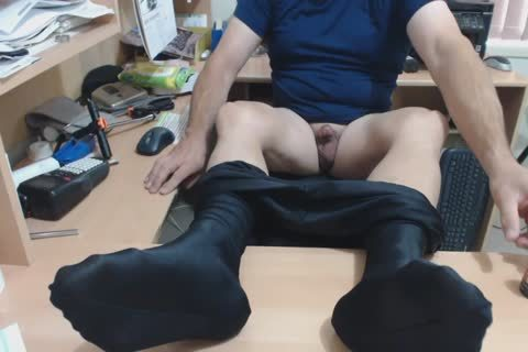 Having A Jerk-off Session Wearing My Footed Lycra Compression Pants.