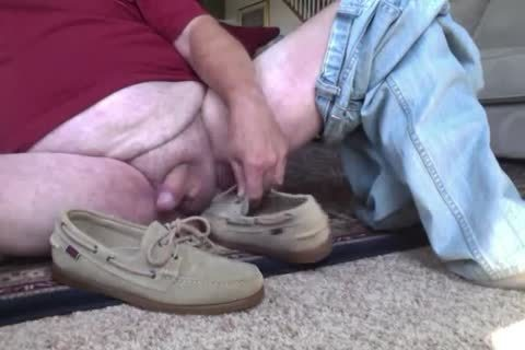 Here I'm Wearing My new Beige Suede Sebago Docker Boat Shoes.  They truly Feel Great On My Feet And Make My shlong Tingle Just Wearing them.  I Hope Y