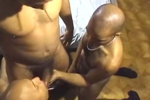 Three large Dicked dark boys Have A poke Session
