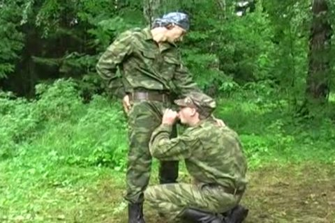 these Two Soldiers Are Excited In The Forest