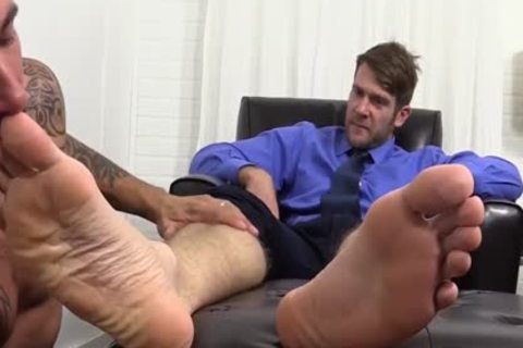 lascivious Colby Jerks Hard weenie During Foot Worship From Johnny