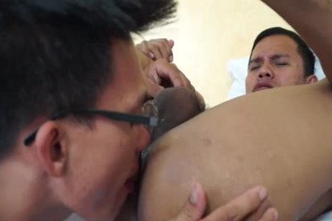 Doctot Licks His Male Asians chocolate hole For First Time