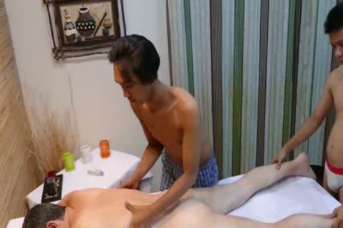 excited guy gets banged By Two asian boyz After juicy Massage