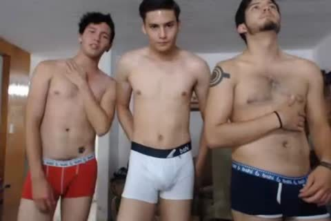3 Mexican nice-looking men,nice dongs,beautiful buttholes