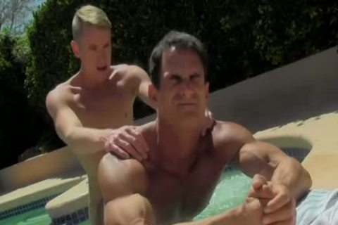 gracious pumped up dudes Having brutaly enjoyment By The Pool