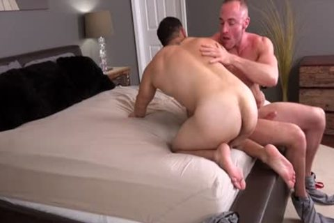 Muscle lad ass drilling With cumshot
