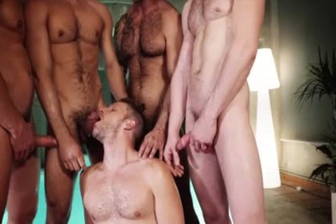 dirty gays three-some With ejaculation