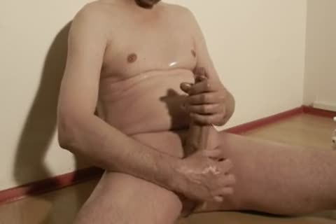 Robin Jerks His shaved Oiled Uncut Monstercock 143