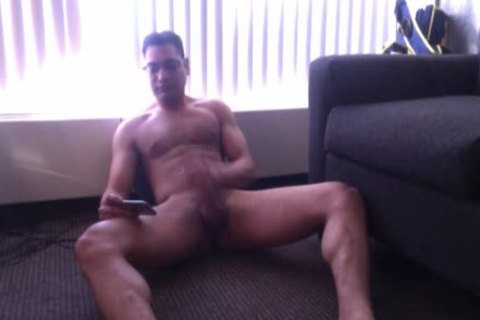 Homemade subrigid schlong Jerking cybersex web camera dilettante Sex Tape Of beefy fellow