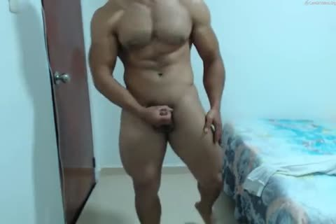 muscular Latino discharges A gigantic Load To His charming Abs