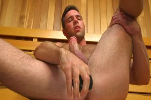 Muscle gay vibrator And cumshot