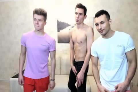 3 Russian gracious boyz With Great Round booties,admirable knobs On cam