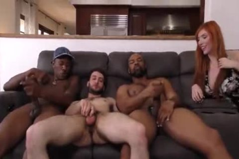 Girlfriend makes a decision Her Boyfriend Needs Two large darksome cocks Up His arse
