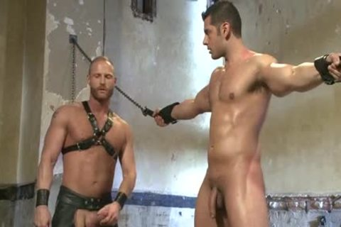 Muscle homosexual tied And Facial cum