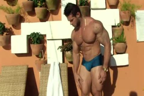Gil Baiano - Clay Stone - gorgeous Oiled Hung Bodybuilder