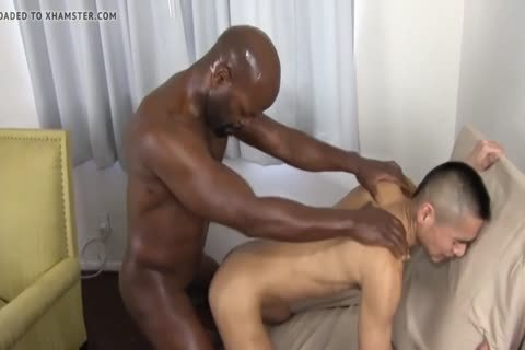 black Daddy Chokes A boy With His wang