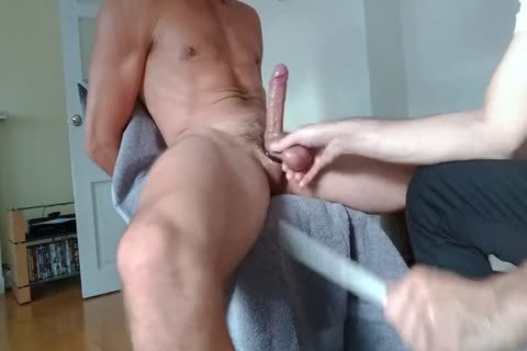 muscular lad Is Getting Edged