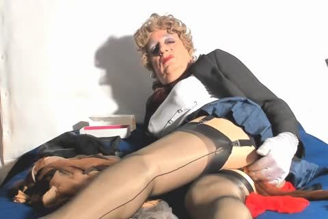 Playing With Used Nylon stockings And Plugging My Sissy snatch
