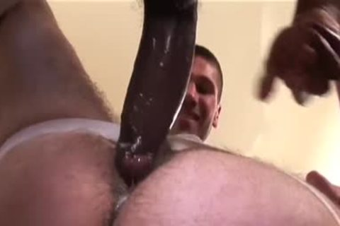 Cumdump Bottom Impaled By Two Hung dudes
