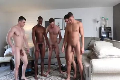 Five Bubble-butted-guys orgy