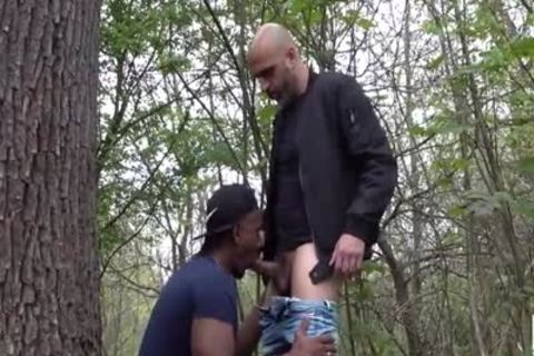 Jogger gangbanged In The Woods