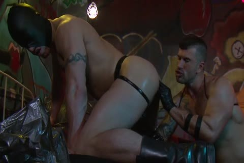 Adam Killian In Latex Forces Jesse Santana To take up with the tongue His booty