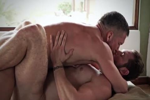 passionate Sex With Two strong Muscles