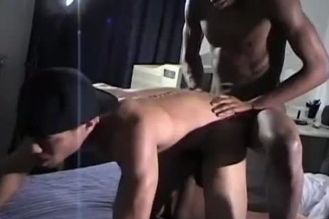 homosexual darksome lad gets His Round butthole nailed