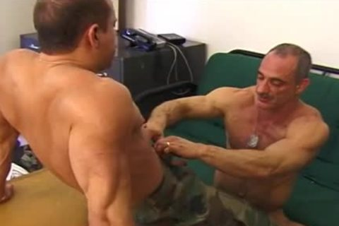 Muscly Army boyz Share An Intimate pont of time