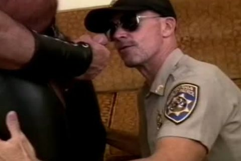 lustful Cop unfathomable-throats A beefy penis And Makes It sperm