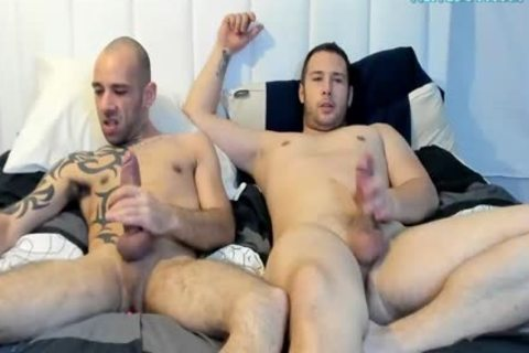 large knob Tattooed guy Sucked His recent friends penis