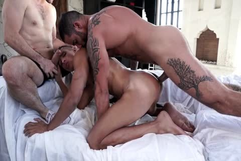 lad Dominated And Barefucked By 2 guys With dildos