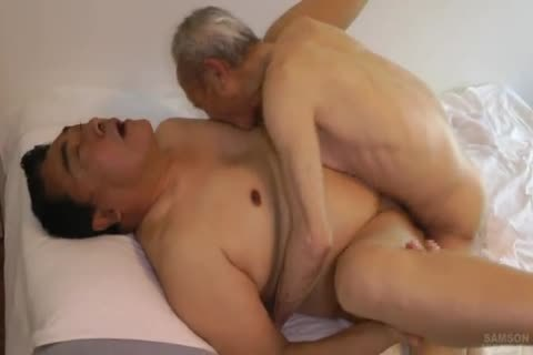 Japanese fat Daddy Sex With monstrous penis old man