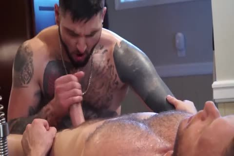 Tattooed lad acquires His butthole Massaged