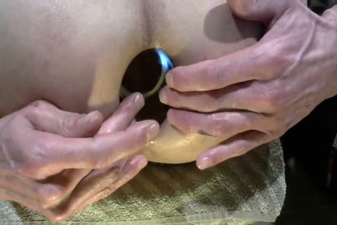 Playing With Fist, Glasplug And Dildos