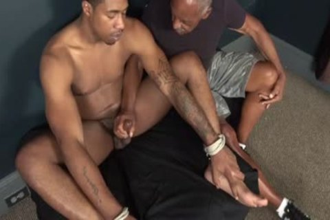 bound black chap Serviced By daddy black man