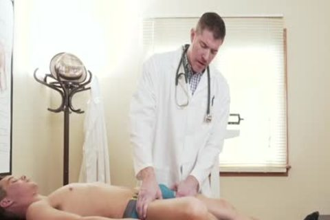 tiny Size boy's taut gap fucked By massive penis Doctor During Exam