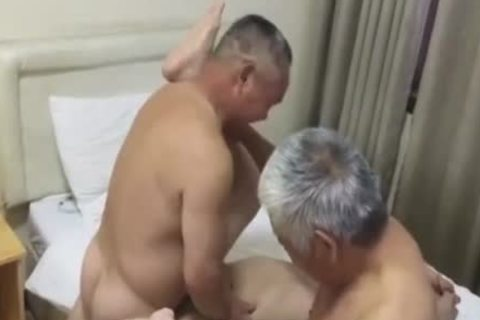 Three old Chinese guys Have Sex
