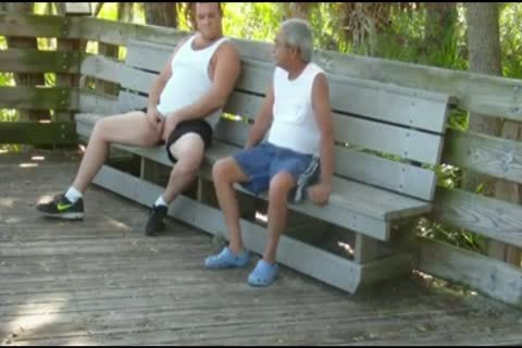 outdoors Scenes Where daddy man Sucks & gets poked By chubby
