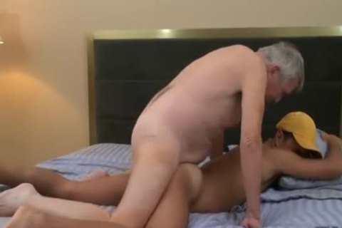 tasty old Grey Haired American Teacher And His Student