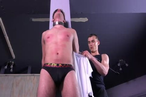 slutty Michael DelRay tied & Dominated In bdsm Dungeon