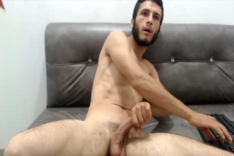 young Skinny College lad Strokes His massive cock And cum