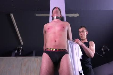 sexy Michael DelRay fastened & Dominated In Sadomasochism Dungeon