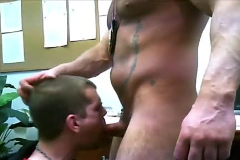 Officer Putting Delinquent Kid To Suckle
