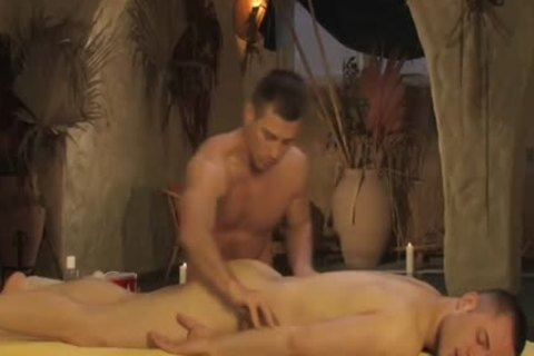 Relaxing His butthole With admirable Massage