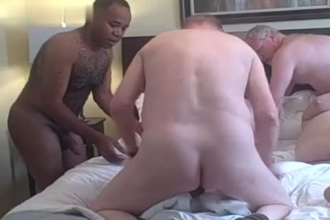 4 old old men Play In A Hotel Room darksome Daddy daddy man