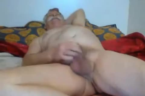 Whiteholly Silver Mustached Daddy old man Jerks Off